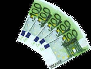 fünf Geldescheine Kredit ohne Schufa